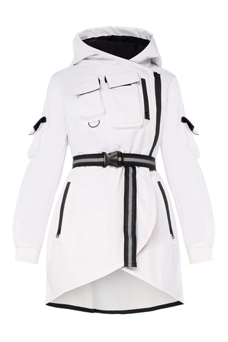 Belted Utility Jacket - White