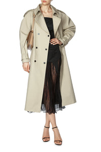 Cape Back Trench - Beige