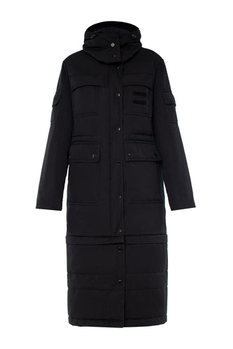 Slim Transformer Jacket Coat - Black
