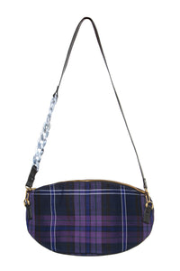 Plaid Oval Bag
