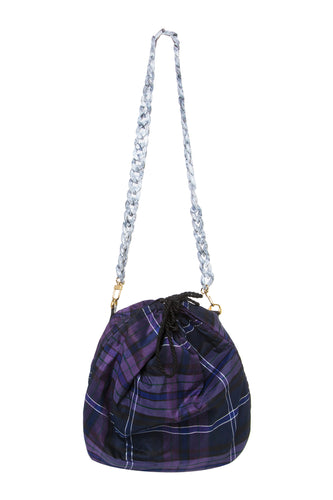 Plaid and Chain Link Bag