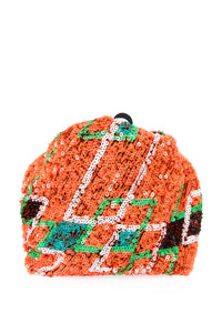 Sequin Geometric Print Bag