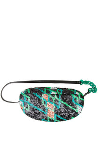 Sequin Oval Handbag