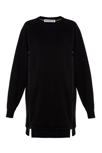 Zipper Sweatshirt - Black