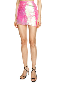 Digital Bloom Short Skirt