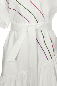 Diana Ruffled Stripe Dress
