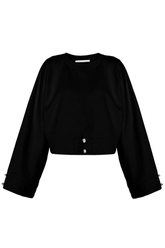 Laced Sweatshirt - Black