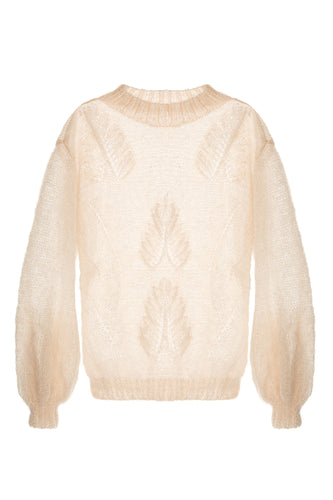 Leaf Knit Mohair Sweater