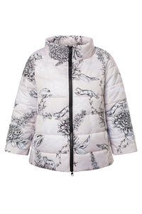 Chrysanthemum Puffer Jacket - Beige