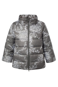 Chrysanthemum Puffer Jacket - Graphite