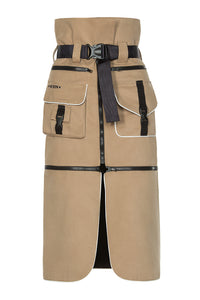 Convertible Cargo Skirt - Beige