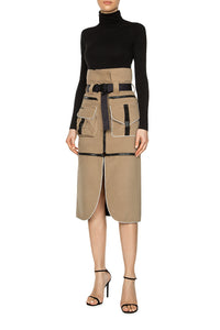 Convertible Cargo Skirt - Khaki