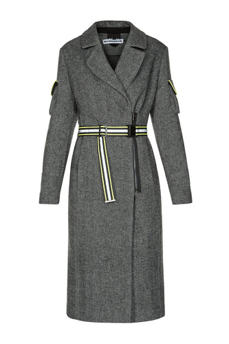 Notch Collar Side Zip Coat