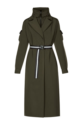 Removable Hood Coat - Olive