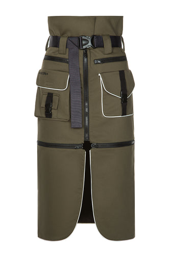 Convertible Cargo Skirt - Olive