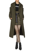 Load image into Gallery viewer, Removable Hood Coat - Olive