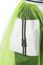Load image into Gallery viewer, Tulle Cargo Pocket Skirt - Lime