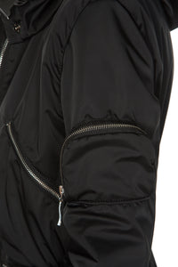Zipper Convertible 5-in-1 Utility Coat - Black
