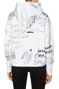 Alice in Wonderland Hoodie - White