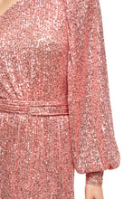 Load image into Gallery viewer, Veronica One Shoulder Sequin Dress - Pink