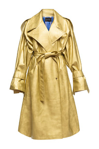 Eco Leather Trench Coat - Gold