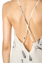 Load image into Gallery viewer, Crisscross Back Silk Dress - White