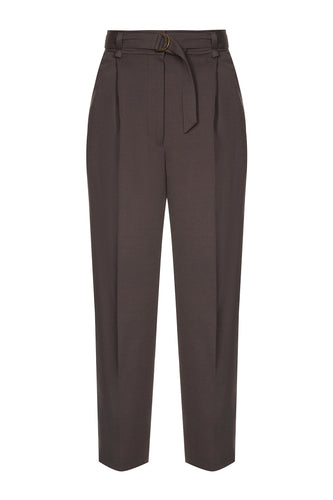 Classic Cropped Trousers - Brown