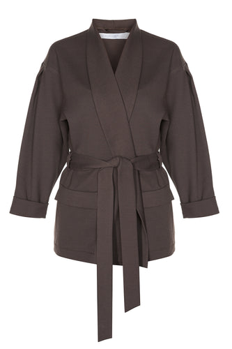 Soft Wrap Jacket - Brown