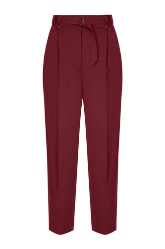 Classic Cropped Trousers - Rouge
