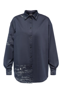 Mary Poppins Yoke Back Shirt - Indigo