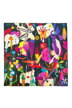 Load image into Gallery viewer, Thumbelina Silk Square Scarf - Black