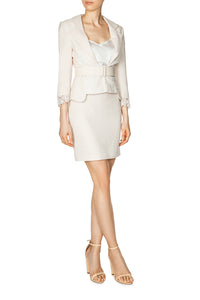 Slim Tailored Skirt - Ivory
