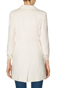 Long Lace Jacket - Ivory