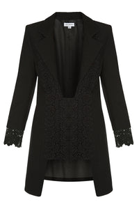 Long Lace Jacket - Black