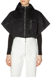 Convertible Cropped Cape