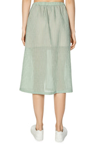 Devoré Midi Skirt - Green