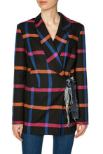Load image into Gallery viewer, Side Tie Checkered Jacket