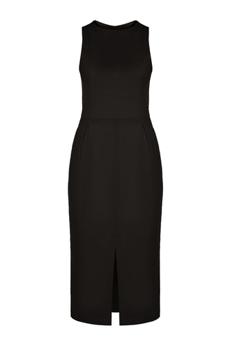 Slim Knit Dress - Black