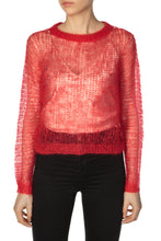 Load image into Gallery viewer, Open Weave Mohair Sweater - Red