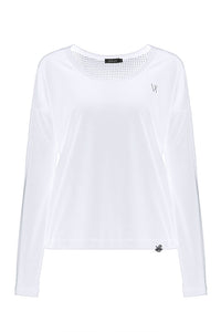 Chloe Long Sleeve Training Top - White