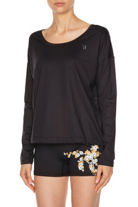 Chloe Long Sleeve Training Top - Black