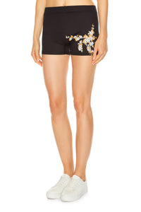 Floral Training Shorts - Black