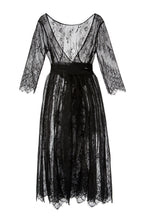 Load image into Gallery viewer, Lace Illusion Dress - Black