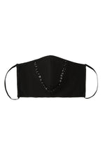 Load image into Gallery viewer, Face Mask - Black Sequin Trim