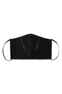 Face Mask - Black Sequin Trim