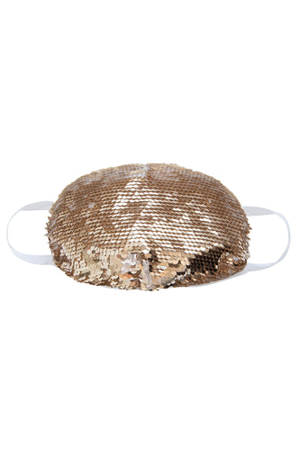 Face Mask - Gold Sequins (Filter Pocket)