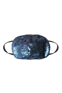 Sequin Face Mask - Fuchsia/Blue (Filter Pocket)