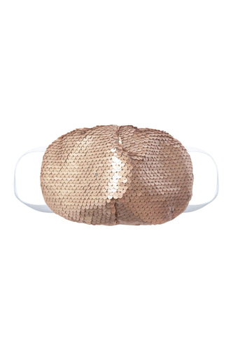 Sequin Face Mask - Taupe (Filter Pocket)