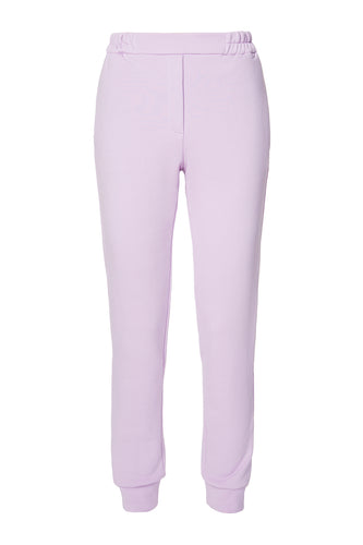 Shirred Waist Joggers - Lavender