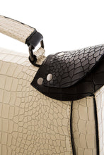 Load image into Gallery viewer, Croc Pattern Top Handle Bag - Ivory